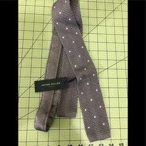 Peter Millar designer gray square silk tie new